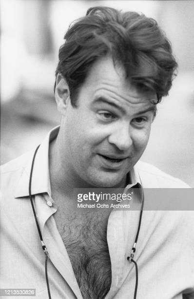 Canadian actor and comedian Dan Aykroyd at the Universal Studios backlot in Los Angeles for the filming of the Live At The Hard Rock benefit concert...