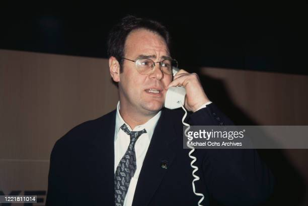 Canadian actor and comedian Dan Aykroyd attends the 1997 National Association of Television Programming Executives convention, held at the Ernest N...