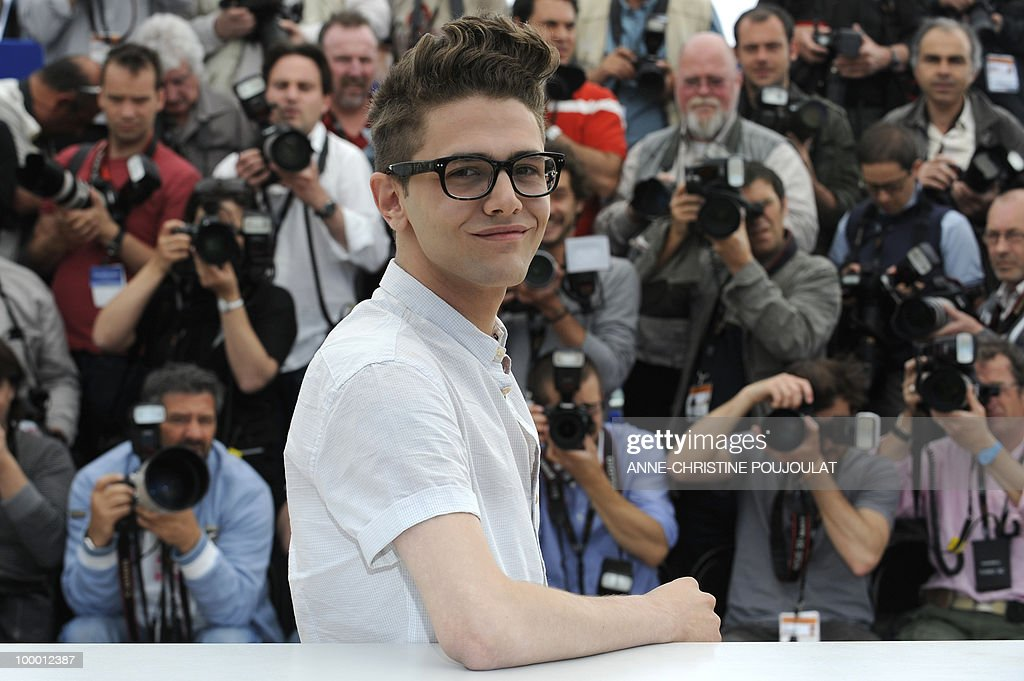Canadian actor and director Xavier Dolan poses during the photocall of 'Les Amours Imaginaires' presented in the Un Certain Regard selection at the 63rd Cannes Film Festival on May 15, 2010 in Cannes.