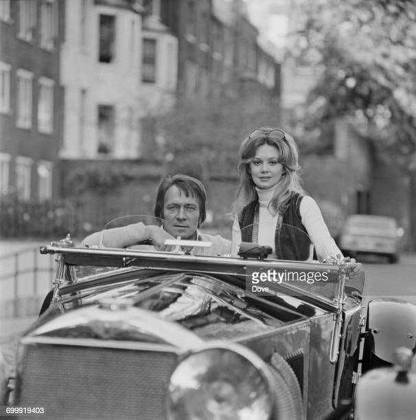 Canadian actor Christopher Plummer and his wife actress Elaine Taylor in his 40yearold Invicta UK 22nd October 1971