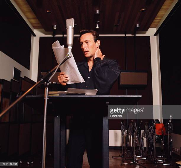 Canadian actor Christopher Plummer in a recording studio on 28th June 1968