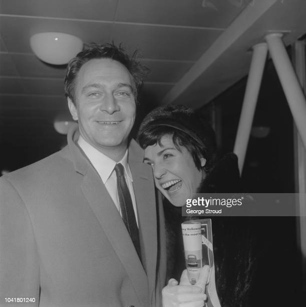 Canadian actor Christopher Plummer pictured with his wife Patricia Lewis at London airport on 7th January 1963