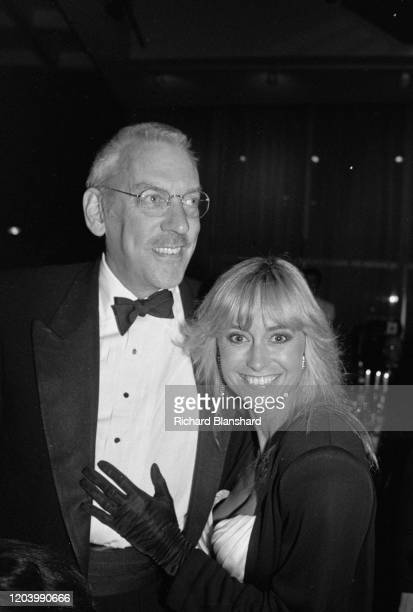 Canadian actor Donald Sutherland and English actress Susan George in Cannes, France, 1989.