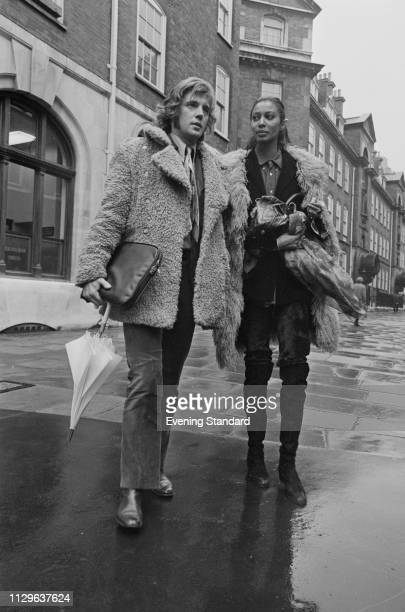 Canadian actor Iain Quarrier and his girlfriend American fashion model and actress Donyale Luna In London where he is appearing in court after being...