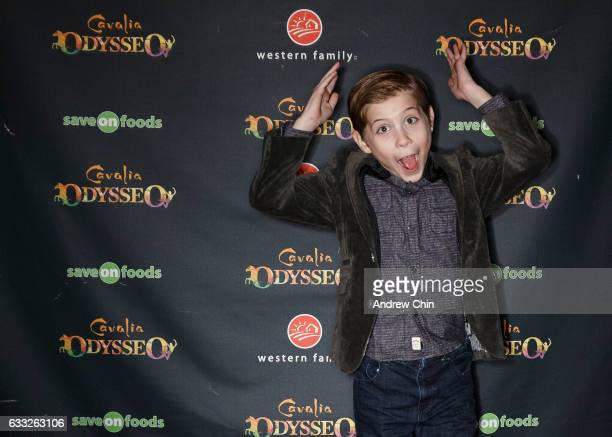 Canadian actor Jacob Tremblay attends the Premiere of Odysseo by Cavalia on January 31 2017 in Vancouver Canada