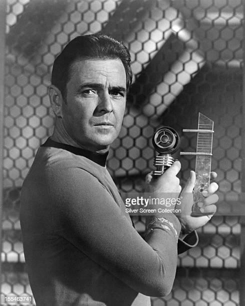 Canadian actor James Doohan as Montgomery 'Scotty' Scott in the US TV science fiction series 'Star Trek', circa 1967.