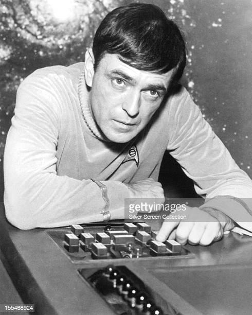 Canadian actor James Doohan as Montgomery 'Scotty' Scott in the US TV science fiction series 'Star Trek' circa 1967