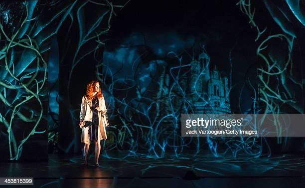 Canadian actor Janine Theriault performs in the Theatre du Nouveau Monde / Lemieux Pilon 4D Art coproduction of 'La Belle et la Bete' at the BAM...