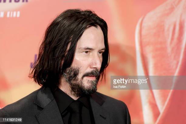 Canadian actor Keanu Reeves poses at the John Wick Chapter 3 ñ Parabellum photocall at Hotel De Rome on May 6 2019 in Berlin Germany