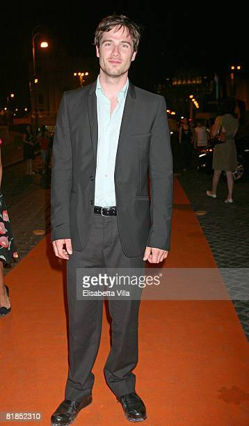 Canadian actor Luke MacFarlane arrives at the Roma Fiction Fest 2008 dinner gala at Castel Sant'Angelo on July 7 2008 in Rome Italy