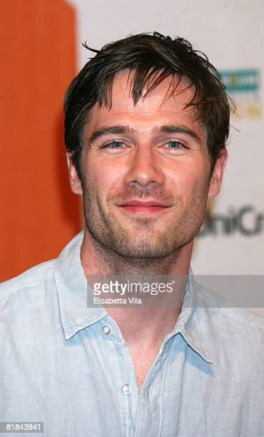 Canadian actor Luke Macfarlane attends the first day of Roma Fiction Fest 2008 July 7 2008 in Rome Italy