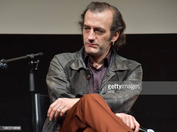 Canadian actor Martin Dubreuil attends a press conference of film 'The Great Darkened Days' at Ex Theater during the 31st Tokyo International Film...