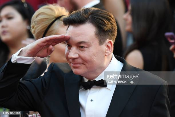 Canadian actor Mike Myers arrives for the 91st Annual Academy Awards at the Dolby Theatre in Hollywood California on February 24 2019