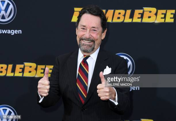 """Canadian actor Peter Cullen attends the global premiere of """"Bumblebee"""" at the TCL Chinese theatre in Hollywood on December 9, 2018."""