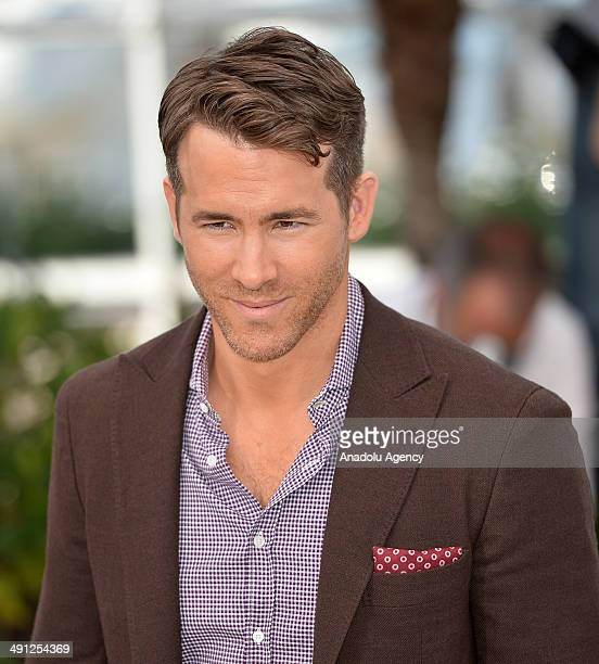 Canadian actor Ryan Reynolds poses during a photocall for the film Captives in competition at the 67th Cannes Film Festival in Cannes France May 16...