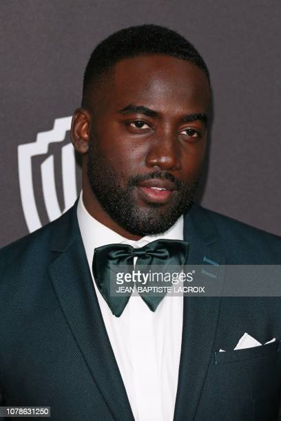 Canadian actor Shamier Anderson arrives for the Warner Bros and In Style 20th annual post Golden Globes party at the Oasis Courtyard of the Beverly...