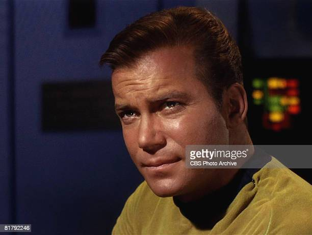 Canadian actor William Shatner as Captain James T. Kirk in 'The Man Trap,' the premiere episode of 'Star Trek,' which aired on NBC-TV on September 8,...