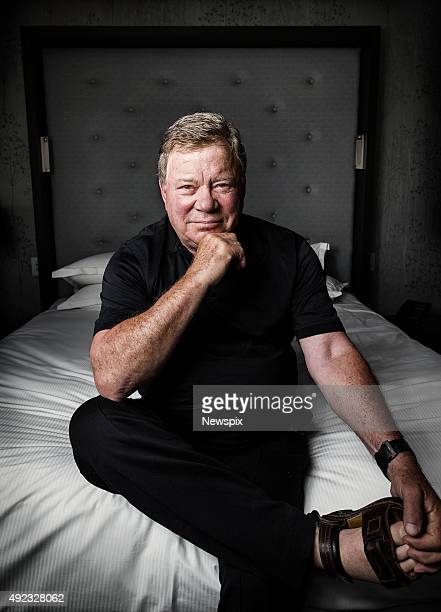 Canadian actor William Shatner poses during a photo shoot at the Sofitel in Brisbane, Queensland.