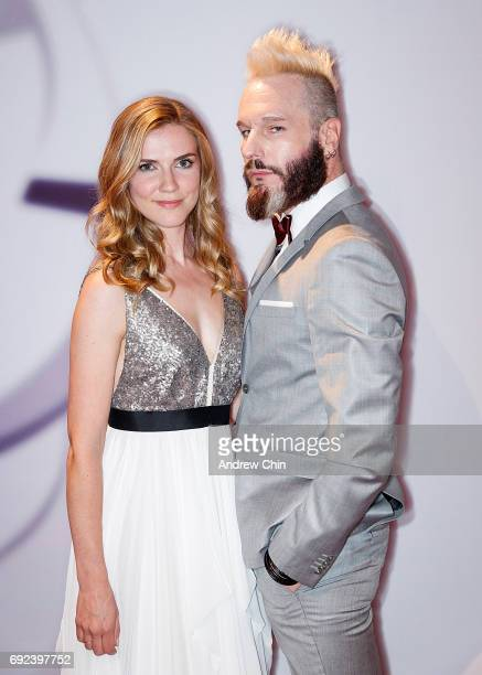 Canadian actors Sara Canning and Michael Eklund attend the Leo Awards 2017 at Hyatt Regency Vancouver on June 4 2017 in Vancouver Canada
