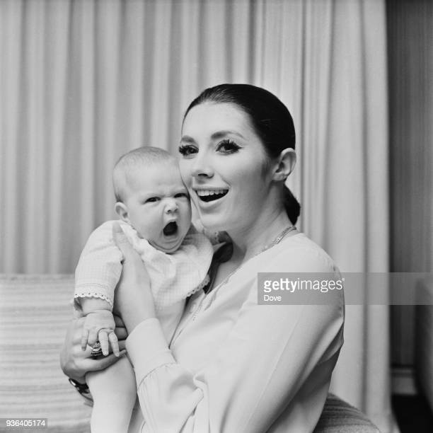 Canadian actress and author Beverly Adams with her daughter Catya Sassoon UK 24th November 1968