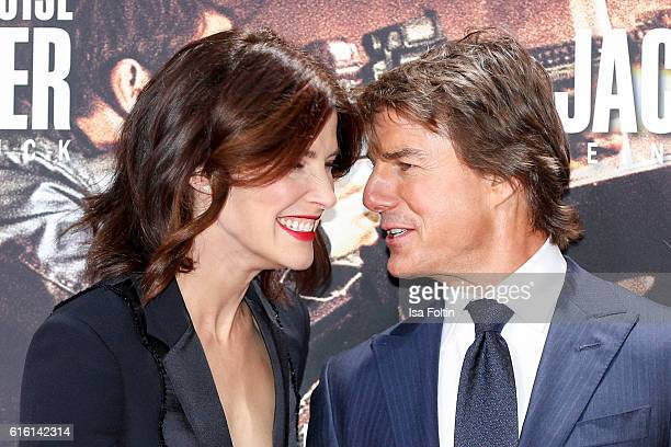 Canadian actress and model Cobie Smulders and US actor Tom Cruise attend the 'Jack Reacher Never Go Back' Berlin Premiere at CineStar Sony Center...