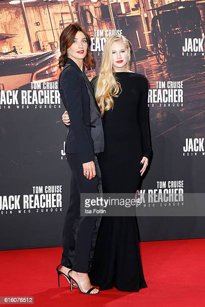 Canadian actress and model Cobie Smulders and US actress Danika Yarosh attend the 'Jack Reacher Never Go Back' Berlin Premiere at CineStar Sony...
