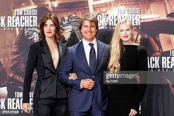 Canadian actress and model Cobie Smulders US actor Tom Cruise and US actress Danika Yarosh attend the 'Jack Reacher Never Go Back' Berlin Premiere at...