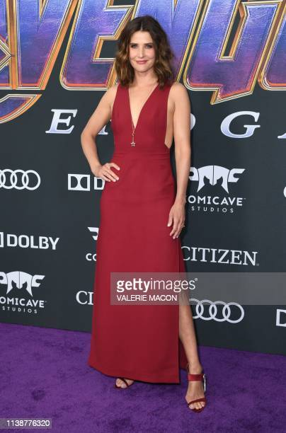 Canadian actress Cobie Smulders arrives for the World premiere of Marvel Studios' Avengers Endgame at the Los Angeles Convention Center on April 22...