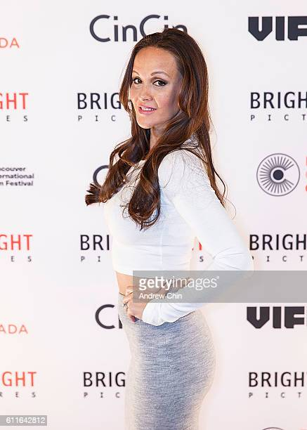 Canadian actress Crystal Lowe attends Brightlight Pictures' VIFF Red Carpet Party at CinCin on September 29 2016 in Vancouver Canada