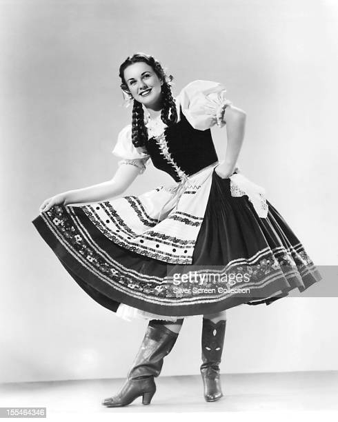 Canadian actress Deanna Durbin as she appears in 'Spring Parade' directed by Henry Koster 1940 Durbin plays Hungarian peasant maid Ilonka Tolnay in...