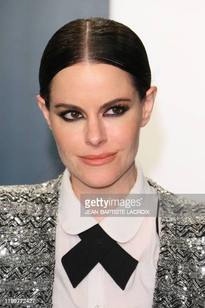Canadian actress Emily Hampshire attends the 2020 Vanity Fair Oscar Party following the 92nd Oscars at The Wallis Annenberg Center for the Performing...