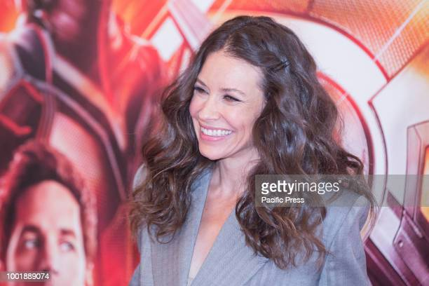 Canadian actress Evangeline Lilly during the photocall at the Hotel De Russie in Rome of the film 'AntMan and the Wasp' produced by Marvel Studios...