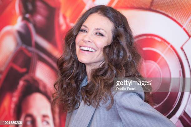 Canadian actress Evangeline Lilly during the photocall at the Hotel De Russie in Rome of the film AntMan and the Wasp produced by Marvel Studios and...