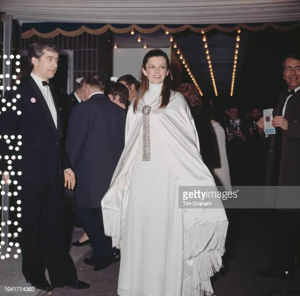 Canadian actress Geneviève Bujold arrives at the Odeon Leicester Square in London for the premiere of the film 'Anne of the Thousand Days' 23rd...