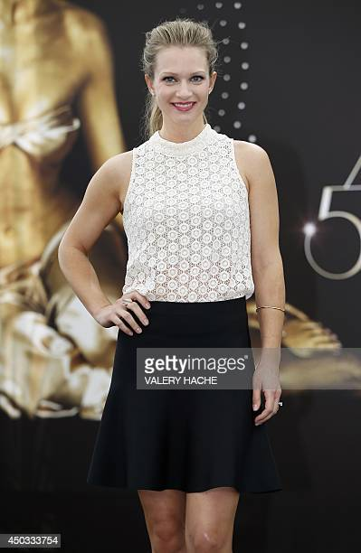 "Canadian actress Joy Andrea Cook poses during a photocall for the TV show ""Criminal Minds"" as part of the 54nd Monte-Carlo Television Festival on..."