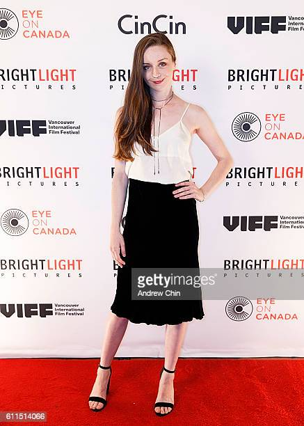 Canadian actress Kacey Rohl attends Brightlight Pictures' VIFF Red Carpet Party at CinCin on September 29 2016 in Vancouver Canada