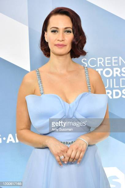 Canadian actress Kristen Gutoskie attends the 26th Annual Screen ActorsGuild Awards at The Shrine Auditorium on January 19 2020 in Los Angeles...