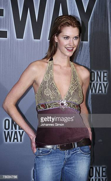 Canadian actress Lauren Lee Smith poses at the photocall of One Way in Hotel Bayerischer Hof on January 18 in Munich Germany