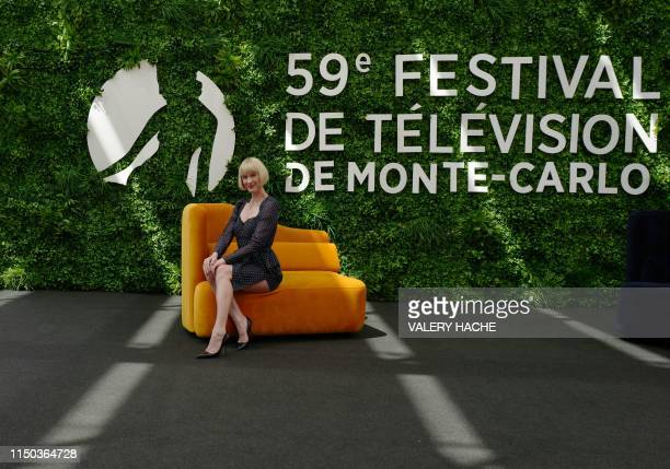 Canadian actress Lauren Lee Smith poses during a photocall for the TV show Frankie Drake Mysteries as part of the 59th MonteCarlo Television Festival...