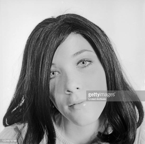 Canadian actress Linda Thorson known from the TV series 'The Avengers' at Hamburg Germany circa 1966