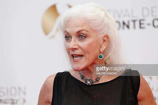 Canadian actress Linda Thorson poses during the closing ceremony of the 53rd MonteCarlo Television Festival on June 13 2013 in Monaco AFP PHOTO /...