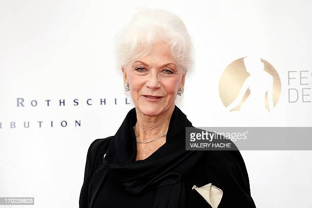 Canadian actress Linda Thorson poses during the opening ceremony of the 53rd MonteCarlo Television Festival on June 9 2013 in Monaco The MonteCarlo...