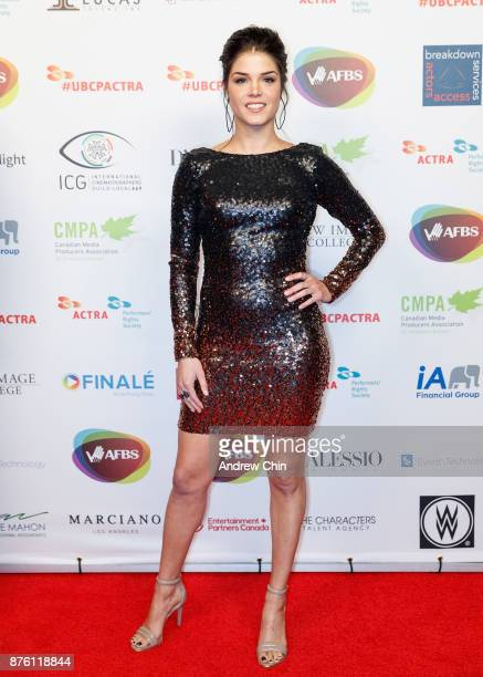 Canadian actress Marie Avgeropoulos attends the 6th Annual UBCP/ACTRA Awards at Vancouver Playhouse on November 18 2017 in Vancouver Canada