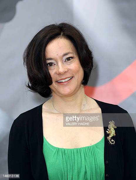 Canadian actress Meg Tilly poses during a photocall for the TV show Bomb Girls as part of the 52nd MonteCarlo Television Festival on June 14 2012 in...