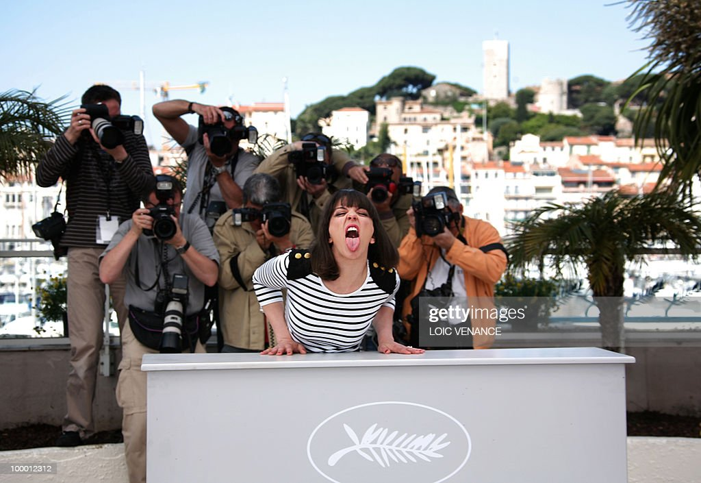 Canadian actress Monia Chokri poses during the photocall of 'Les Amours Imaginaires' presented in the Un Certain Regard selection at the 63rd Cannes Film Festival on May 15, 2010 in Cannes.