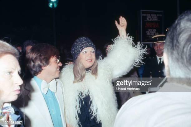 Canadian actress Monique Mercure at Cannes Film Festival, 1977 - France, 1970s.