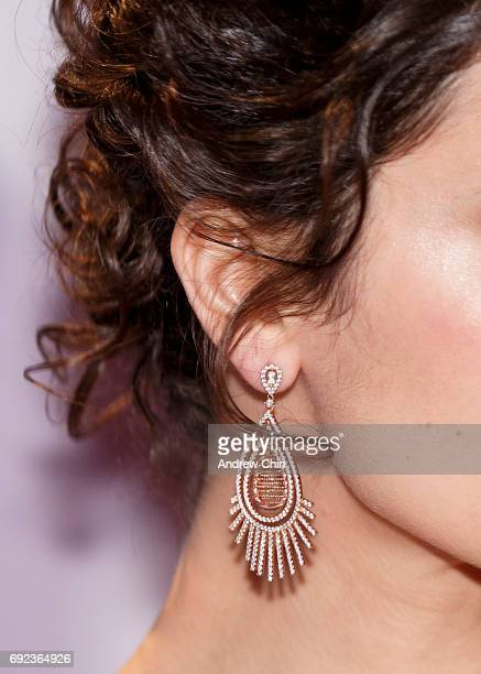 Canadian actress Priscilla Faia earring detail attends the Leo Awards 2017 at Hyatt Regency Vancouver on June 4 2017 in Vancouver Canada