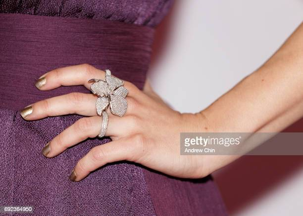Canadian actress Priscilla Faia ring detail attends the Leo Awards 2017 at Hyatt Regency Vancouver on June 4 2017 in Vancouver Canada