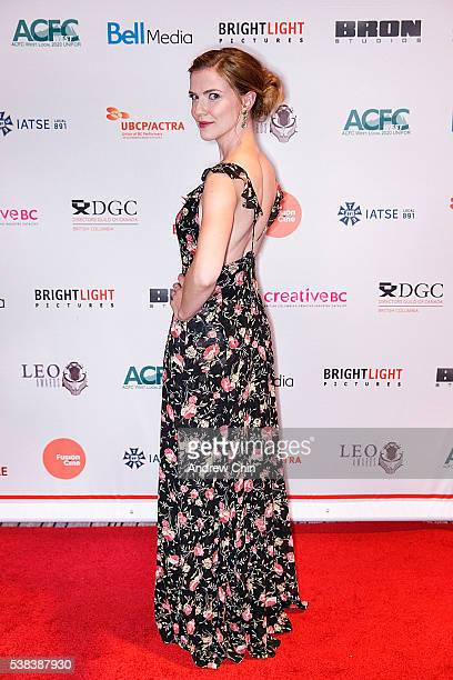 Canadian actress Sara Canning attends the Leo Awards 2016 at Hyatt Regency Vancouver on June 4 2016 in Vancouver Canada