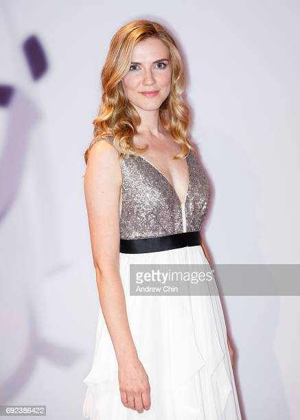 Canadian actress Sara Canning attends the Leo Awards 2017 at Hyatt Regency Vancouver on June 4 2017 in Vancouver Canada